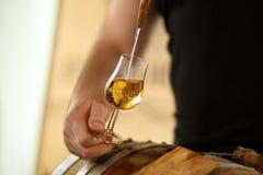 Mooie stroom in een glas whisky Stock Fotografie