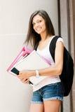 Mooie student klaar voor klasse stock fotografie