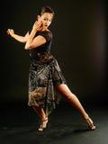 Mooie tangodanser Royalty-vrije Stock Afbeeldingen