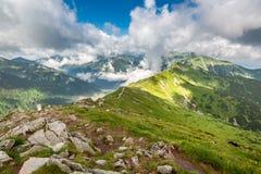 Mooie Tatra-bergmening van Kasprowy Wierch, Polen stock afbeeldingen