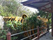 Mooie tempels en aantrekkelijkheden Historisch in Thailand Stock Afbeelding
