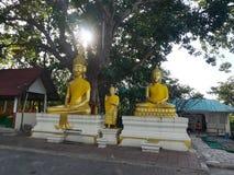 Mooie tempels en aantrekkelijkheden Historisch in Thailand Royalty-vrije Stock Foto's