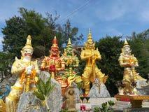 Mooie tempels en aantrekkelijkheden Historisch in Thailand Royalty-vrije Stock Fotografie