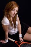 Mooie tennisspeler Stock Foto's