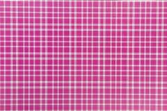 Mooie textuur als achtergrond van gecontroleerde wit en roze squre Stock Afbeelding