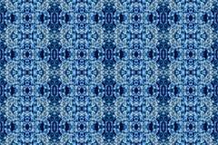 Mooie textuur van vorst en ijs op de bladeren, naadloze de winterachtergrond, gekleurd blauw, Royalty-vrije Stock Foto's