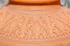 Mooie Thaise stijlontwerpen op aardewerk Royalty-vrije Stock Foto