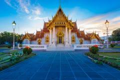 Mooie Thaise Tempel Wat Benjamaborphit of Marmeren tempel Royalty-vrije Stock Fotografie