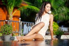Mooie Thaise vrouw Royalty-vrije Stock Afbeeldingen