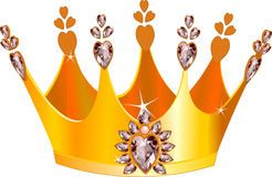 Mooie tiara stock illustratie