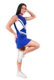Mooie Tiener Cheerleader met Steunen Stock Foto