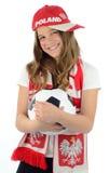 Mooie tiener in Euro 2012 kleuren Stock Fotografie
