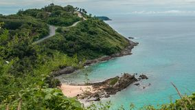 Mooie Timelapse bij het Yanui-strand in Phuket, Thailand stock footage
