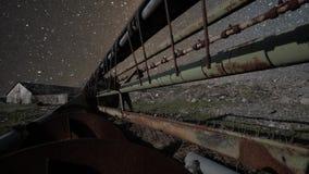 Mooie timelapseanimatie van fonkelende sterren stock footage