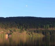 Mooie Titisee in zwart bos in Duitsland Royalty-vrije Stock Afbeelding