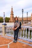 Mooie toerist in Sevilla royalty-vrije stock foto's