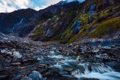 Mooie toneel van de gletsjer populairste reizende D van Franz Josef stock afbeelding