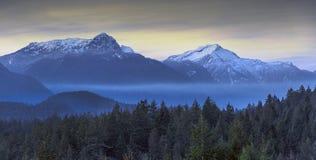 Mooie toneelscapes van Vancouver en Fraser Valley royalty-vrije stock foto's