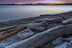 Mooie toneelscapes van Vancouver en Fraser Valley stock afbeelding