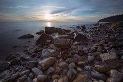 Mooie toneelscapes van Vancouver en Fraser Valley Scenic Backgrounds stock fotografie