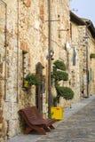 Mooie Toscaanse straat stock foto's