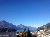 Mooie townscape in Nieuw Zeeland Stock Foto