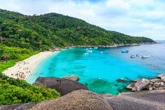 Mooie tropische overzees en blauwe hemel van Similan-eiland, phang-Nga Stock Foto