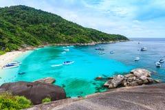 Mooie tropische overzees en blauwe hemel van Similan-eiland, phang-Nga Royalty-vrije Stock Foto