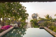Mooie tropische toevlucht en kuuroord royalty-vrije stock fotografie