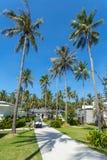 Mooie tropische toevluchtbungalowwen royalty-vrije stock afbeelding