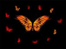 Mooie tropische vlinders royalty-vrije illustratie
