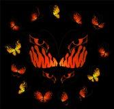 Mooie tropische vlinders stock illustratie
