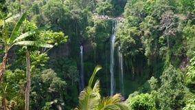 Mooie tropische waterval Bali, Indonesi? stock video