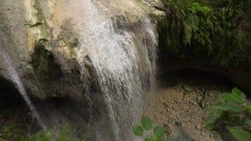 Mooie Tropische Waterval Het eiland van Filippijnen Cebu stock videobeelden