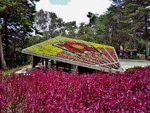 Mooie tuin in Park arvà Stock Foto's
