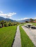 Mooie tuin van een villa Royalty-vrije Stock Afbeeldingen
