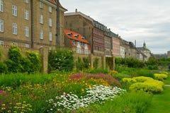Mooie tuinen in Kopenhagen Stock Foto