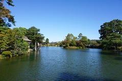 Mooie tuinlandscpae bij Kenrokuen-tuin Stock Foto