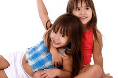 Mooie tweelingzusters. Stock Foto