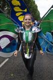 Mooie uitvoerder bij de Notting Heuvel Carnaval Royalty-vrije Stock Afbeelding