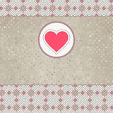 Mooie valentijnskaartkaart met hart. EPS 8 Stock Fotografie