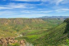 Mooie vallei van het Nationale Monument van Agua Fria Royalty-vrije Stock Foto's