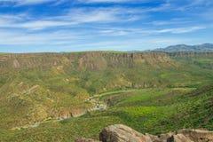 Mooie vallei van het Nationale Monument van Agua Fria Royalty-vrije Stock Afbeelding