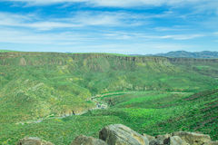 Mooie vallei van het Nationale Monument van Agua Fria Royalty-vrije Stock Fotografie