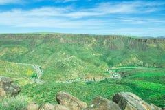 Mooie vallei van het Nationale Monument van Agua Fria Royalty-vrije Stock Foto