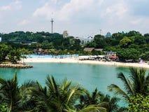 Mooie van het strandparadijs fotografie als achtergrond dag Singapore Stock Fotografie