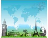 Mooie van Reiseuropa vector als achtergrond Royalty-vrije Stock Afbeelding