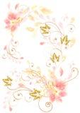 Mooie vector roze kaart Stock Foto