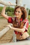 Mooie veedrijfster stock foto
