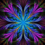 Mooie veelkleurige fractal bloem Inzameling - ijzig patroon vector illustratie